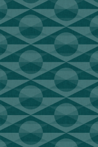 geometric patterned wallpaper for iPhone 4S - Deco pattern of overlapping circles and triangles in the Teal colourway