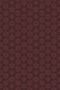 Retro-inspired wallpaper for iPhone 4S - Sputnik pattern derived from rotated champagne coupes, in the Chocolate colourway