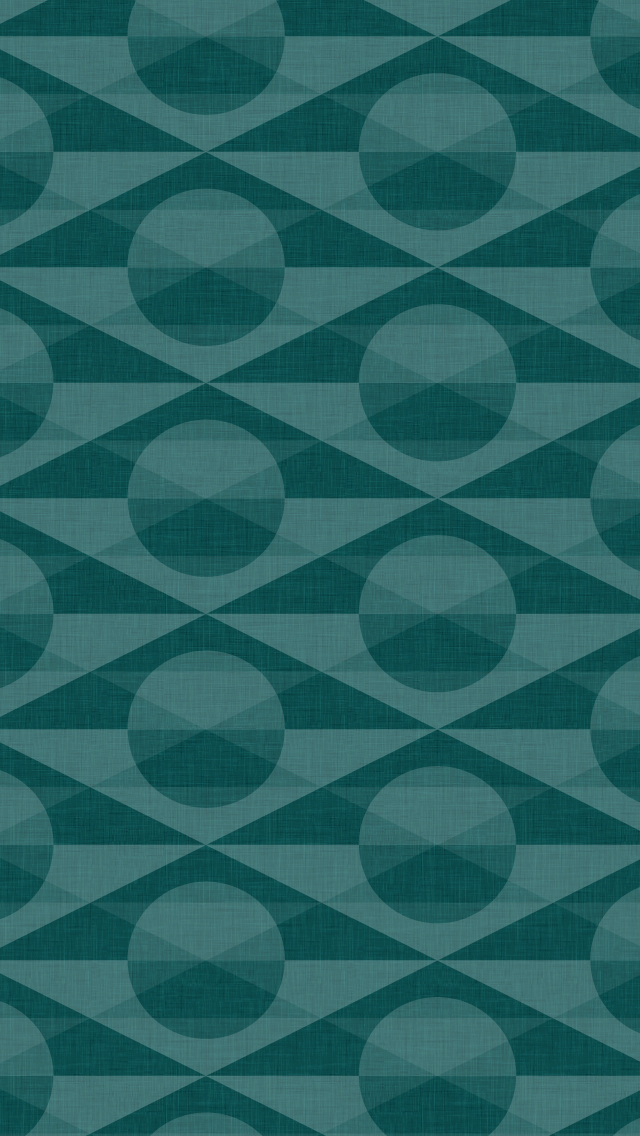 dark, patterned wallpaper for iPhone 5 - Deco pattern in the Teal colourway