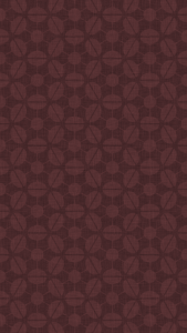 dark, patterned wallpaper for iPhone 5 - Sputnik pattern derived from rotated champagne coupes, in the Chocolate colourway