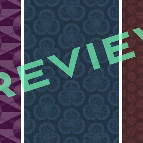 Preview of three retro-inspired, patterned wallpapers for iPhone 4S and iPhone 5 in the eggplant, ink and chocolate colourways