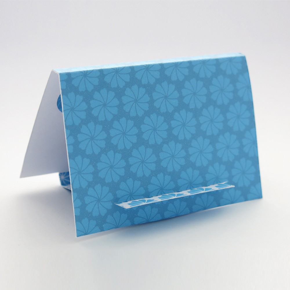The reverse side of the easel/gift box for my Flora Dove brooch
