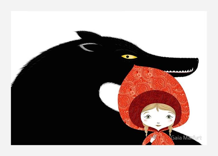 Little Red Riding Hood by Gaia Marfurt.
